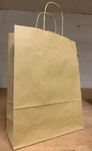 Brown Colour Twisted Handle Paper Party and Gift Boutique Shopping Carrier Bags