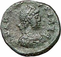 ARCADIUS 383AD  Ancient Roman Coin VICTORY Nike w Trophy i27893