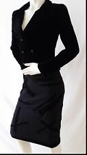 AUTHENTIC LUXURY CHANEL VELVET/WOOL/SILK SKIRT SUIT & JACKET SIZE 36