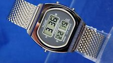 Reloj Digital Vintage swissic chronolympic Cuarzo LCD Circa 1970s SEC 934711 nos