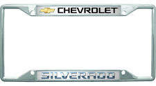 New Chevrolet Silverado Gold Logo License Plate Frame