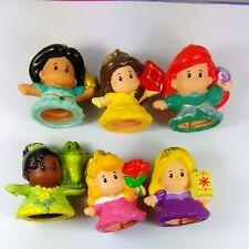 Lot of 6pcs Fisher Price Little People Disney Princess RAPUNZEL BELLE Tiana Doll