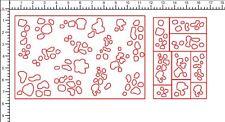 Desert Night Camo Blobs Stencil Pack, for Duracoat, Cerakote, Krylon!
