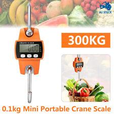 300kg 0.1kg Mini Crane Scale Portable LCD Digital Electronic Hook Hanging Scale