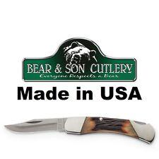 "Bear & Son Cutlery 3-3/4"" Mid-size Lockback #05 NEW Made in USA"