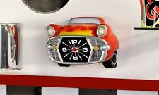 Retro Hot Rod Car Red Wall Clock