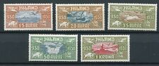 ICELAND 1939 1000 YEARS OF PARLIAMENT ALLTINGET AIRMAIL C4-C8 PERFECT MNH