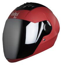 Steelbird Sba-2 Matt Sport Red Full Face Motorcycle Helmet With Silver Visor-L