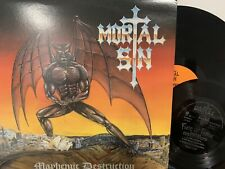 Mortal Sin – Mayhemic Destruction LP 1987 Mega Metal Productions AJLP 1016 NM