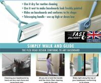 Magic Baseboard Buddy Clean Mop Walk Glide Extendable Microfiber Dust Brush Lazy