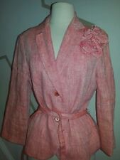 Zara woman jacket blazer jacket linen size 8 flower on one side stunning