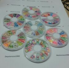 2box Nail Art Decoration Fimo Polymer Clay 3D Assorted Colorful Stickers