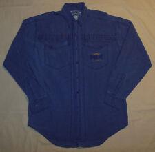 Vtg 90's Retro Hipster Bugle Boy Casual Shirt Button & Pocket Front L - Xl Mens