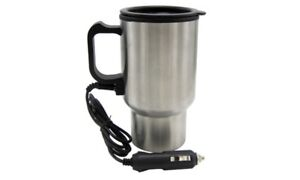 12 Volt 16 oz Cigarette Socket Car Auto Heated Coffee Tea Travel Mug W/ Charger