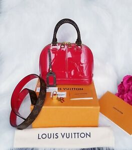 Louis Vuitton Alma BB Miroir Scarlet Rot Vernis Monogram
