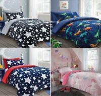 RAINBOW Kids Children Designer TEDDY FLEECE SHERPA Duvet Quilt Cover Or Sheet