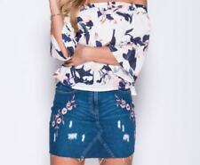 Blue Denim Skirts for Women