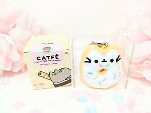 "NEW SERIES Pusheen Blind Box Series 16 ""Catfe"" Plush Keychains - Sprinkle Donut"