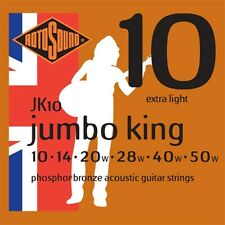 4 for 3 Bundle Rotosound JK10 Jumbo King Phosphor Bronze Acoustic Strings