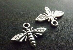 Bee Pendant Tibetan Antique Silver Tone Jewellery Pack of 20