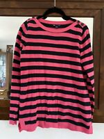 Neon Pink And Black Stripe Sweater From Gap Size S