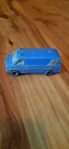 Tomica Chevrolet Chevyvan No.F22 1977 Diecast Blue Van Made In Japan Tomy