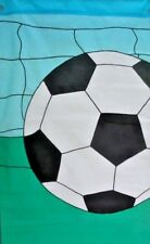 New listing Soccer Standard Applique House Flag by Nce #20330
