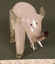 Mercury Glass Elephant. Hand Blown Antique.