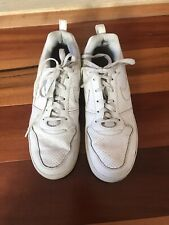 Nike Men's White Leather Sneakers - Size 10.5