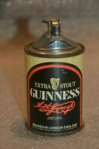 Vintage Guiness Beer Tin Table Lighter Made in Switzerland Extra Stout