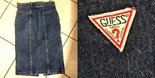 VTG Guess Georges Marciano Dark Denim High Waist Pencil Skirt Size 31