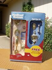 Kwikset Front Door Kit Brass Universal Chelsea + Accessories New Nib + Issue