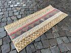 Decor rug, Handmade wool rug, Vintage rug, Bohemian rug | 1,6 x 3,7 ft