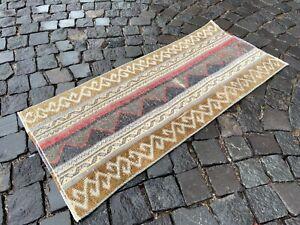 Decor rug, Handmade wool rug, Vintage rug, Bohemian rug   1,6 x 3,7 ft