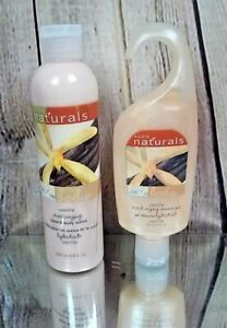 AVON NATURALS SHOWER GEL 5 OZ & BODY LOTION 8.4 OZ VANILLA - NEW