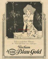 Werbung Anzeige Parfum 4711 Blau-Gold - Jugendstil - 1926