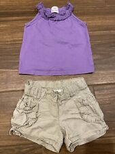 Hanna Andersson Girls Tank Top & Cargo Shorts. Both Size 110