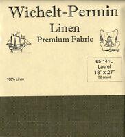 Wichelt Permin PREMIUM LINEN FABRIC 32 Count Cross Stitch 18 x 27 LAUREL