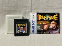 Rampage World Tour Nintendo Gameboy Color Cartridge Manual Authentic & Working
