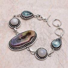 Bracelet Jewelry 27 Gms Ab 66457 Rainbow Solar Quartz Blue Topaz Ethnic Handmade