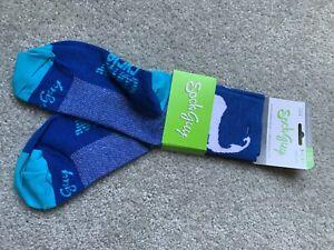 NWT SockGuy Scorpion Socks - 3 inch, Blue, Large/X-Large