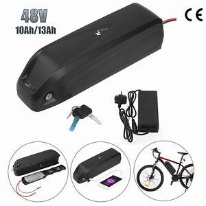 E-Bike Fahrrad Akku 48V 13AH Pedelec Umbausatz Li-Ionen Elektrofahrrad+Ladegerät