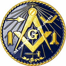 Z-23 Masonic Working Tools Dark Blue Auto Emblem FreeMasonry Car Lodge Mason