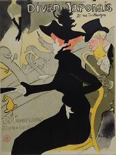 """Toulouse Lautrec Limited Edition Poster """"Divan Japonais"""" w/COA"""
