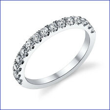 VS1-VS2 F  .50ct Diamond Wedding Band PLATINUM. 15 Nice Round Brilliants