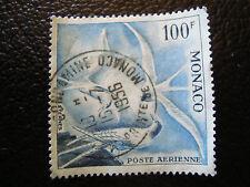 MONACO timbre yvert et tellier aerien n° 66 obl (dentele 13) (A4)stamp monaco(D)