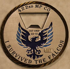422nd Military Police Company Serial #027 Army Challenge Coin / bottle opener
