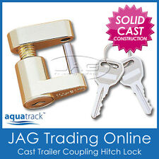 COMPACT TRAILER COUPLING HITCH LASER LOCK & KEYS - Caravan/4x4/Boat Anti-Theft