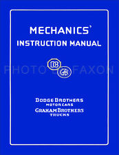 1914-1927 Dodge Brothers Factory Repair Shop Manual Car and Truck Service