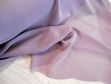 "Georgette chiffon 100% polyester woven single lilac dew 2 yds x 60"" wide"